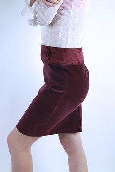 Velvet Purple Mini Skirt Elegant Formal High Waisted Skirt