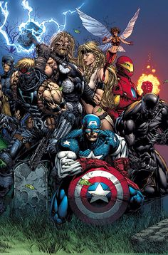 Ultimate Avengers - by David Finch | #comics #marvel