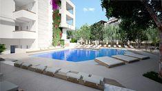 Atrium Hotel, Outdoor Pool, Outdoor Decor, Crete Island, Welcome Decor, At The Hotel, Babysitting, Good Night Sleep, Front Desk