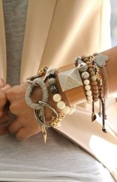 beige and bracelets.