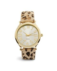 Chico's Calliope Leopard Haircalf Watch