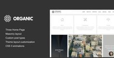 Organic - Architecture & Creatives WordPress Theme Organic Architecture theme is contemporary minimalist theme, with plenty of opportunities with very authentic design, adjustable for every architecture studio, its very easy to understand the detailed nature, purpose and function of the product by just by simple scan. Seemingly simple it has outstanding functionality. Now that we're architects, it's finally our turn and technology has smiled upon us, giving us a tool that is destined to…