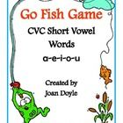 Go Fish!  Students will have fun playing this CVC Short Vowel Word Game. This game contains 56 playing cards and instructions on how to play.  You ...