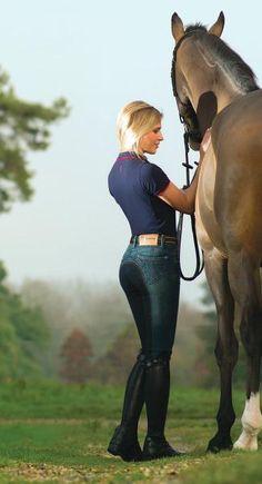 12fe322eb2f Pantalon d équitation Jean Femme - fond peau