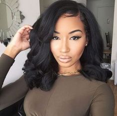 Human Hair Bundles Lace Closure Non Remy Hair Weft Brazilian Straight Hair Weave 3 Bundles With Closure. Are you looking for long black straight hairstyles? See our collection full of long black straight hairstyles and get inspired! Sew In Weave Hairstyles, Straight Hairstyles, Girl Hairstyles, Medium Hairstyles, Hairstyles Pictures, Braided Hairstyles, Hairstyles 2016, African Hairstyles, Hairstyles Videos