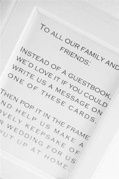 Guestbook alternative...have guests write a note, then put in photo collage frame | Festive Family Wedding (BridesMagazine.co.uk)