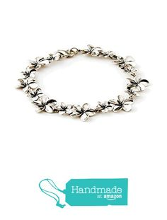 Plumeria Link Bracelet with Two Flowers from Romantic Jewelry by Danny Bushart http://www.amazon.com/dp/B017WRLY0I/ref=hnd_sw_r_pi_dp_mJKuxb16VE2HR #handmadeatamazon