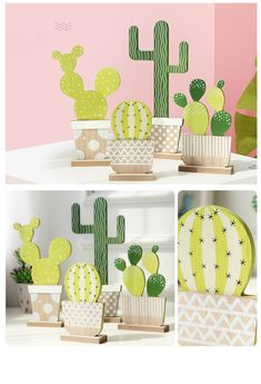 Natural Wooden Cactus Model Desktop Plant Ornaments Children's Room Decoration Accessories Organic Material Cactus Home Decor-in Figurines & Miniatures from Home & Garden on Aliexpress.com   Alibaba Group