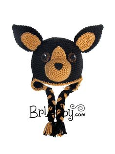 Crochet Chihuahua Dog Hat w/ Earflaps by BriAbbyHMA on Etsy