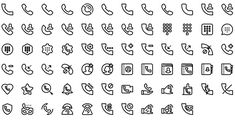 Native line icons pack - Round Icons Premium All Icon, Icon Set, Icon Tattoo, Bullet Journal Key, Icon Pack, Line Icon, Icon Design, Instagram, Icons
