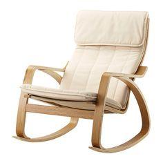 POÄNG Rocking-chair, oak veneer, Alme natural Alme natural oak veneer