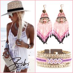 Pink Lily Rose set now available #lilyrose #bibi #bijoux #bibibijoux #jewelry #handmade #swarovski #2016 #fashion