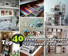Creative IdeasTop 40 Tricks and DIY Projects to Organize Your Office - Creative Ideas