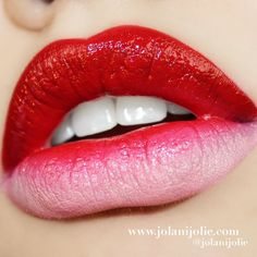 Who can resist Jolani's juicy red pout? Check out the products she used here to DIY: