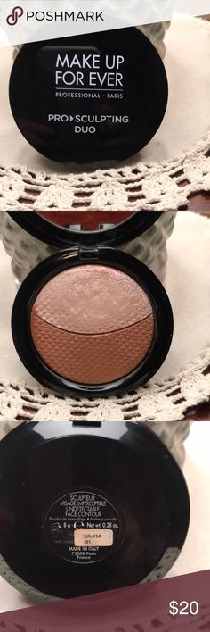Make Up Forever Pro Sculpting Highlighter/ Bronzer Gently used Highlighter.  Bronzer never used.  Great pigmentation!  Use as a Bronzer, Shadow, or Highlighter.  Great payoff.  Just never reach for anymore.  Great quality! Makeup Forever Makeup Bronzer