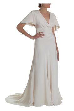 """Ava"" forties vintage kimono sleeve wedding dress 1940s style wedding dresses | Circa Vintage Brides"