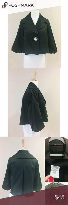 Black Halo Bolero Jacket -XS Black Halo Cotton long sleeve notch collar with large button closure.  Black-XS Black Halo Jackets & Coats Capes