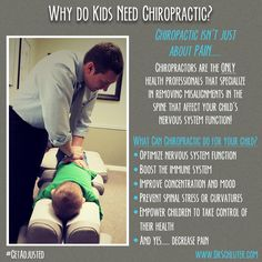 Chiropractic is so much more than just getting rid of pain. We are here to provide quality, all-natural healthcare for your family. #Chiropractic #GetAdjusted