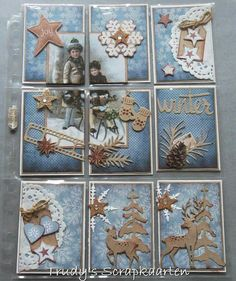"Noor!  Design ""Winter Wishes"" Pocket Letters @scrapkaarten"