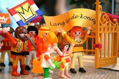 playmobil konings(innen)dag met poppetjes,vlaggen&accessoires