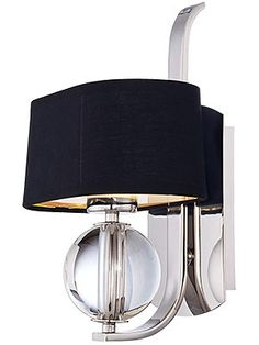 Gotham Wall Sconce In Imperial Silver  -  $151