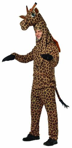 - 100% Polyester - Imported - Hand Wash - Rasta imposta's giraffe is a deluxe animal costume - This costume comes with a shirt, pants attached gloves, and a head