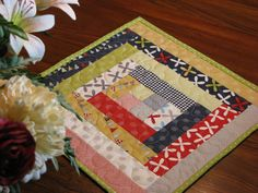 Quilted Table Topper Table Quilt Candle Mat by DollPatchworks, $26.00