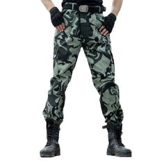 Cargo Pants M Military Tactical Pants Army Special Forces Hunter Jogger  Paintball Camouflage Trousers Plus Size 72e852445c27