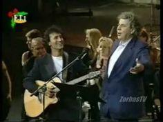 Mikis Theodorakis & George Dalaras - O Kaimos (Live, Athens ~☆~ Sound Of Music, My Music, Greek Culture, Greek Music, 10 Picture, I Work Hard, Artist Life, Greatest Songs, World Music