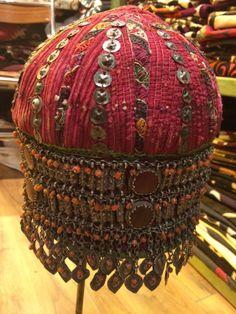 Turkmen silver ornate woman hat