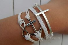 pure braceletAncient silver infiniteanchorcross by jewellrydesign, $9.99