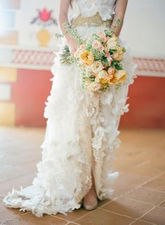 Has there ever been a more beautiful gown or bouquet?  - Gorgeous stylized shoot by the legendary Jose Villa.