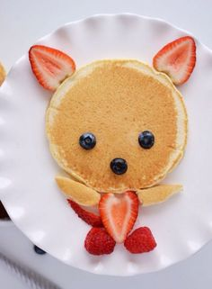 Creative Food Art For Kids You Can Make Yourself Cute Food Art, Food Art For Kids, Cooking With Kids, Children Food, Healthy Food For Kids, Healthy Meals, Easy Food Art, Fruit Art Kids, Healthy Breakfasts