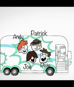 This is basically Fall Out Boy in cartoon form (from the Poptart commercial)