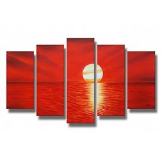 sunset at the ocean painting