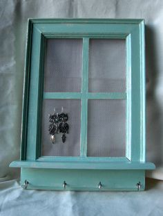 Window Jewelry Holder... Now I just need to get some jewelry