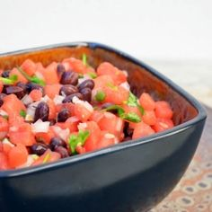 This watermelon salsa reminds me of a delicious  salsa i had that had watermelon, tomatoes, jalepenos...