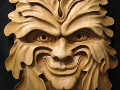 green man wood carving - Google Search