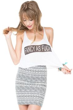 Brandy ♥ Melville | Fancy As Fuck Tank - Just In