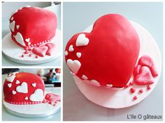 Red Heart cake  by me  (L'ile O gâteaux)