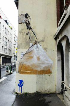Philippe Hérard, sobre, tabtab - street art - paris 20, rue de la mare (mai 2014)