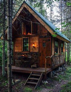 mökki metsässä