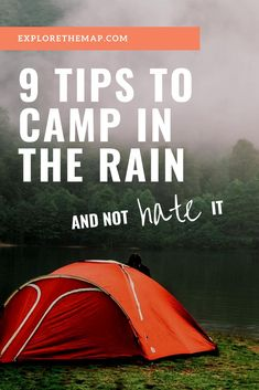 Don't let the rain put a damper on your camping trip! Forget about the rain and learn how to not hate camping in the rain. These rain camping hacks and tips will have you happy and dry while the rain pours on your camping trip. Camping In The Rain, Winter Camping, Camping With Kids, Family Camping, Camping Gear, Outdoor Camping, Camping Stuff, Camping Gadgets, Camping Chairs