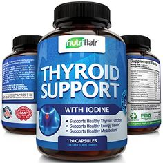 Thyroid Support Supplement With Iodine 120 Capsules  Natural Complex  Boosts Metabolism  Energy Levels  Supports Weight Loss  Increases Brain Function Concentration Focus  Made In The USA -- Read more reviews of the product by visiting the link on the image.