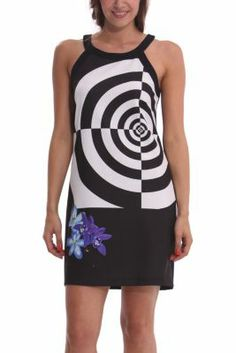 Desigual women's Ofora dress. Look closely at the concentric circles and you'll be hypnotised.