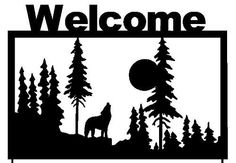 Welcome Sign Wolf Garden Stake (S3) by rusty Rooster Metal. $44.67. At Rusty Rooster Metal all of our products are Made to Order!   This item is cut out of 16 gauge steel using a CNC machine with a plasma cutter, giving it incredible detail while still allowing it to retain its strength. Than we Powder coat every piece of art for a virtually indestructible art piece. Our products can be placed outside without the fear of fading or rusting. We use recycled card board for our ...