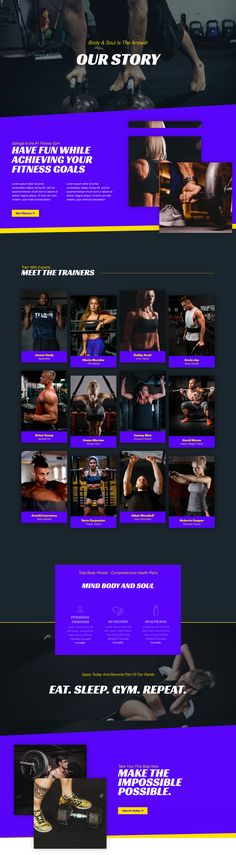 Fitness Website Design Inspiration – About Us Page Layout Wordpress Template, Template Web, Templates, Website Template, Website Design Inspiration, Design Ideas, Page Web, About Us Page, Cool Animations