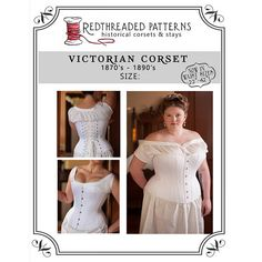 This listing is for an individually-sized, printable PDF Victorian Corset pattern in PLUS SIZE 24/40 WAIST (see last photo for size chart). These patterns are based on historical extant corsets, but the draft is our own, adapted to fit a modern woman of average proportion. This corset