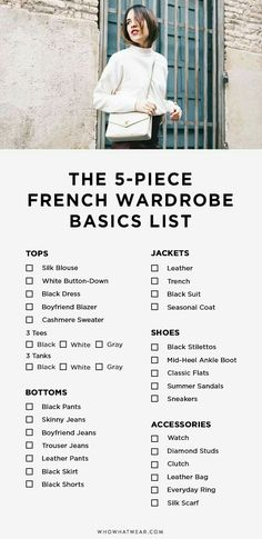 The secret to dressing like an effortless French girl—this list. These are the basics of every French girl wardrobe. The secret to dressing like an effortless French girl—this list. These are the basics of every French girl wardrobe. French Fashion, Look Fashion, Girl Fashion, Fashion Basics, Fashion Clothes, Fashion Capsule, Fashion Boots, Fashion Outfits, Womens Fashion