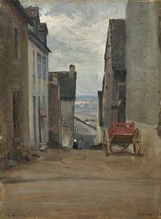Gate i Lepaud, 1887, Christian Skredsvig. Norwegian (1854 - 1924)